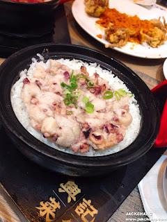 Octopus chicken claypot rice