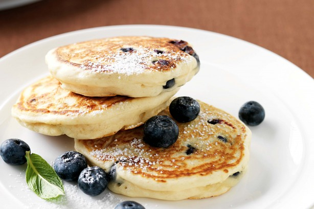 Ultimate Fat Fluffy Blueberry Pancakes