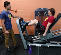 Josh Plonka training Will Burchfield at Better Living Fitness Center in Ann Arbor. Josh is our newest personal trainer.