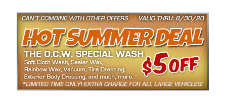 Car wash coupon $5 off OCW Special Wash