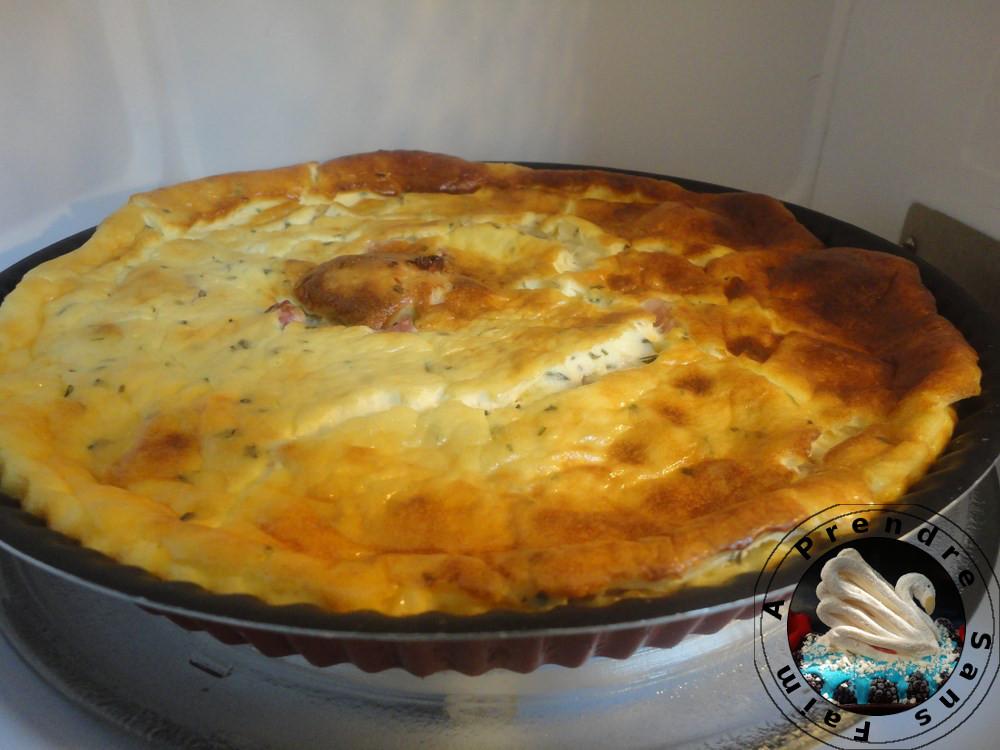 Quiche au fromage et jambon
