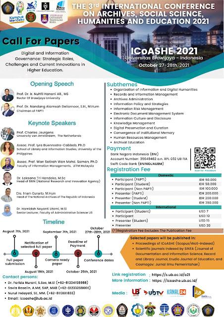 Konferensi Internasional Arsip, Ilmu Sosial, Humaniora dan Pendidikan (ICoASHE)