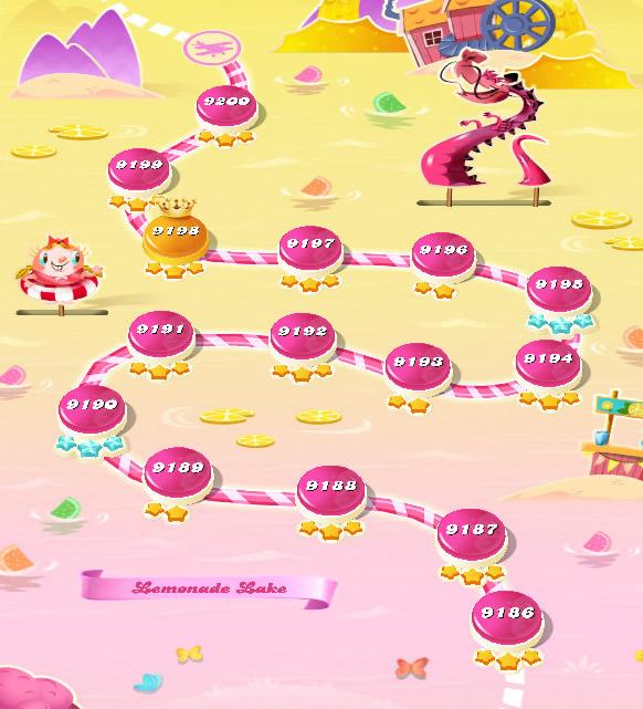 Candy Crush Saga level 9186-9200