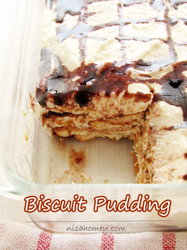 Marie Biscuit Pudding No Bake Eggless Biscuit Pudding