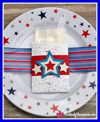 4th of July Silverware Holder