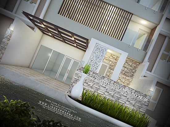 Desain rumah minimalis ukuran 8x12 meter 4 kamar tidur 3 lantai