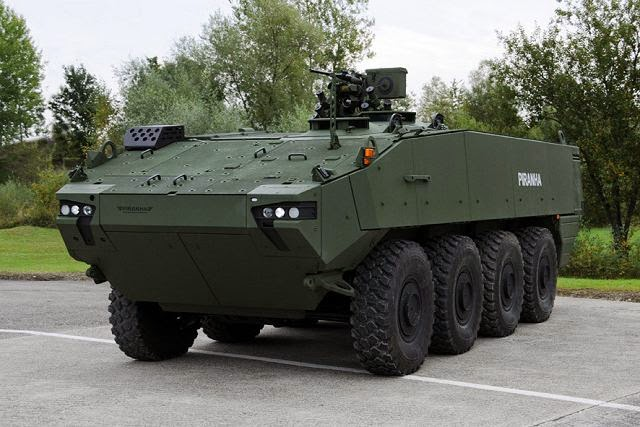 GDELS Piranha 5 8x8 armoured vehicle selected by Denmark to replace