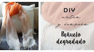 Diy antes y después de un pañuelo con degradado