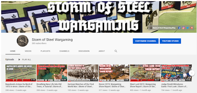 Storm of Steel Wargaming Youtube Channel