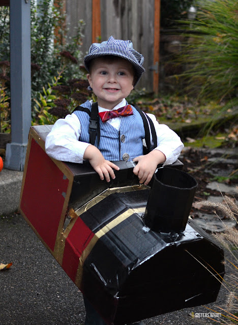 how to make a train costume for kids