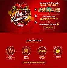 Promoção Natal Premiado Panettones Nestlé