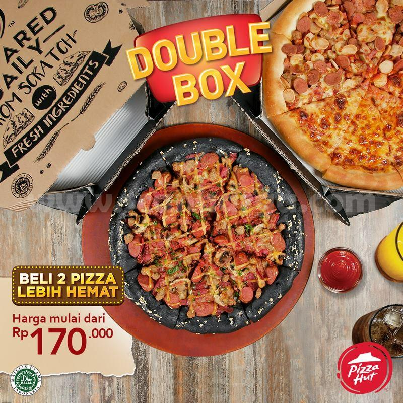 Pizza Hut Promo Double Box Beli Dua Pizza Lebih Hemat Harga Mulai Rp 170 Ribu