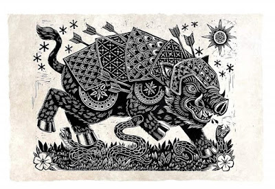 War Hog Linocut Print by Attack Peter x Skybound