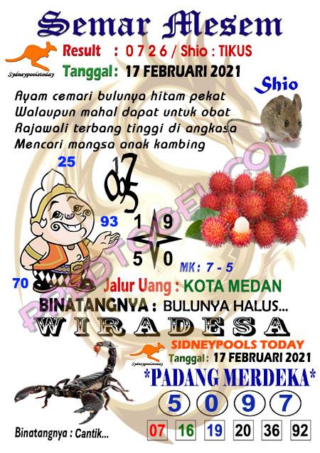 Syair Semar Mesem Sdy Rabu 17 Februari 2021