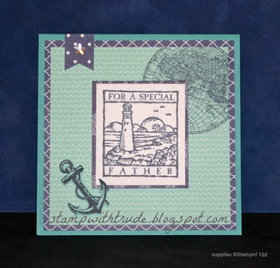 The Open Sea stamp set, Stampin' Up!, Trude Thoman, stamp with Trude, Wonderful Woodcuts, nautical, masculine, Father