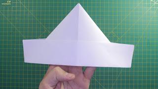 Hướng dẫn cách gấp mũ ( nón ) bằng giấy đơn giản