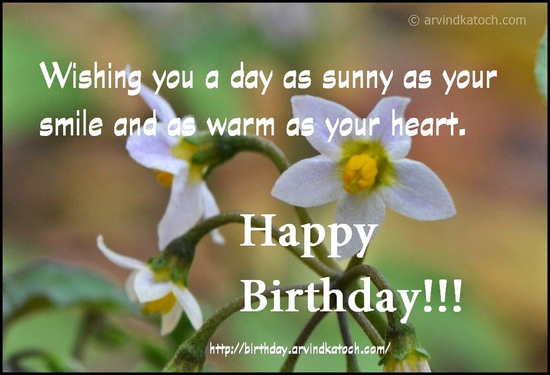 smile, sunny, heart, warm, Birthday card, happy Birthday