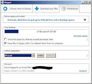 Degoo Settings (Windows)
