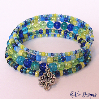 handmade bracelets bead pattern ideas peacock jewelry blue yellow green
