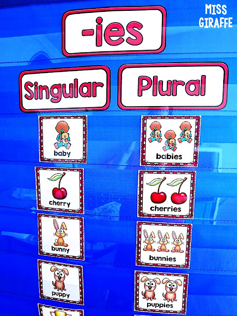 Plural nouns y to ies