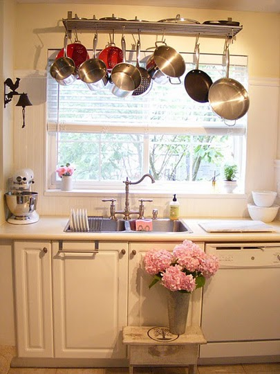 Kitchen Of The Week A Diy Ikea Country Kitchen For Two: By Your Hands: Organizing ----- Pot Racks