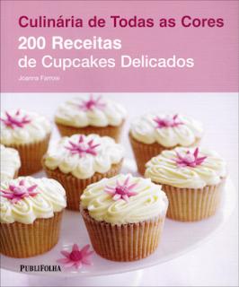 livro receitas cupcakes presente