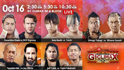 G1 Climax 30 Betting: Night 17