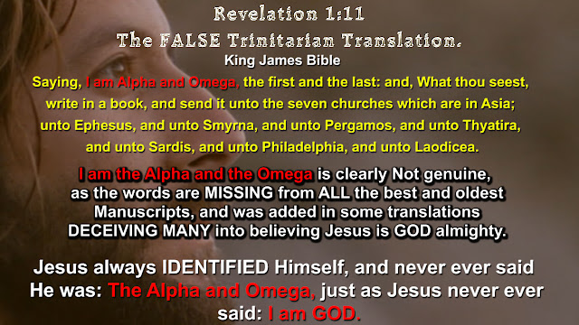 Revelation 1:11  The FALSE Trinitarian Translation.