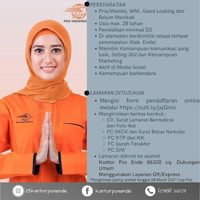Lowongan Kerja PT Pos Indonesia Sebagai Account Exevutive
