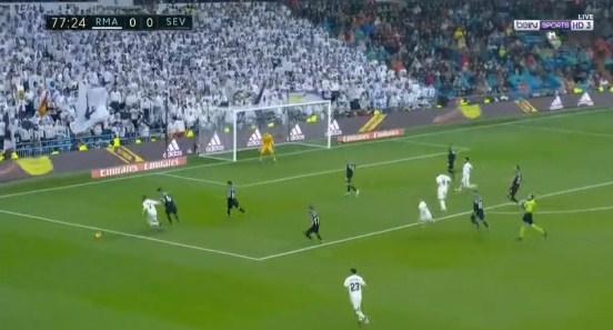 ملخص فوز  ريال مدريد  على اشبيلية  بهدفين دون رد فى الدوري الاسباني