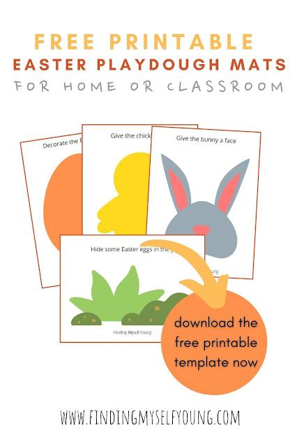 Finding Myself Young free printable Easter playdough mats