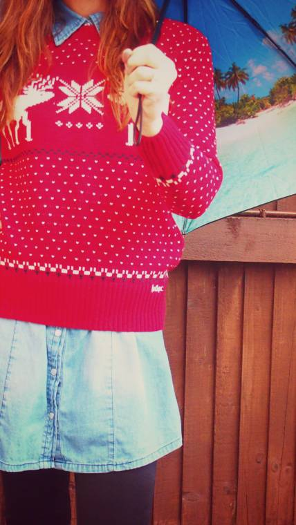 Red Fairisle Jumper And Dreaming Of The Sunshine