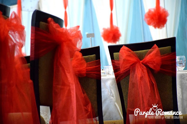 chair tie back, organza, wedding decoration, decorator, indian, chinese, malay, event, reception table, stage backdrop, walkway, aisle, pedestal, draping, pom pom flowers, love corner, photo table, photo booth, instant print, malaysia, selangor