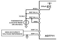 Calibration of the AD7711 in Compensating Temperature