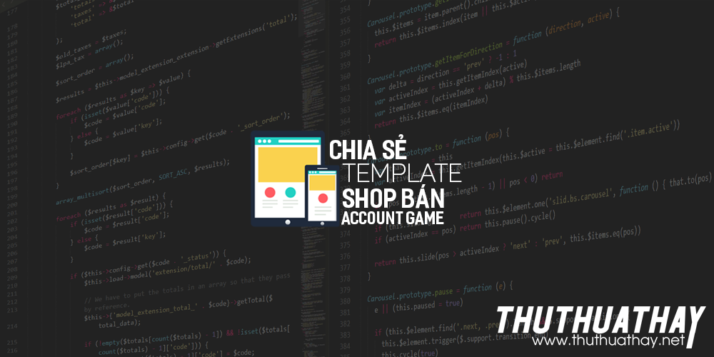 Chia sẻ template shop bán account game