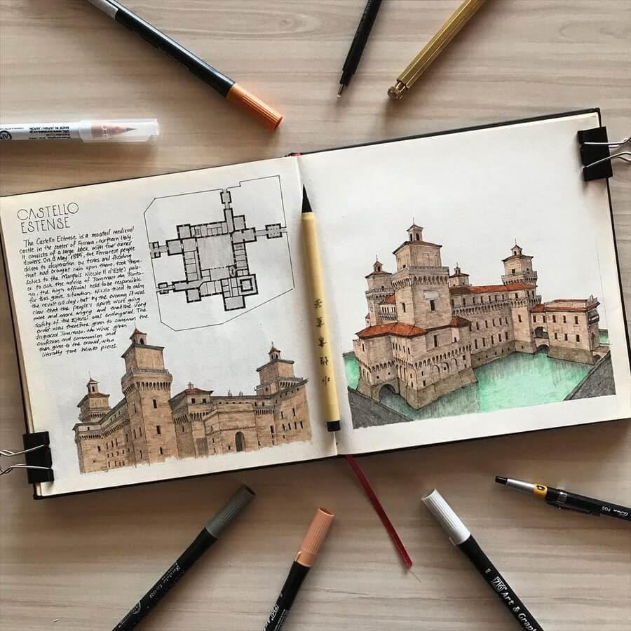 01-Castello-Estense-Oğuzhan-Çengel-www-designstack-co