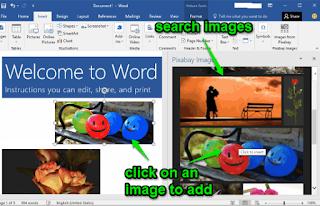 in Pixabay gratis untuk MS Word dan PowerPoint Cara Menambahkan Add-in Pixabay ke Ms Word dan PowerPoint