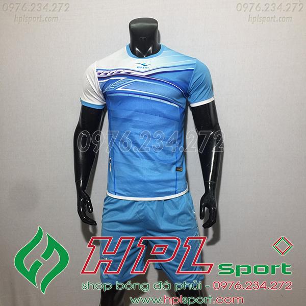 Áo bóng đá ko logo KeepFly PVĐ màu xanh ngọc
