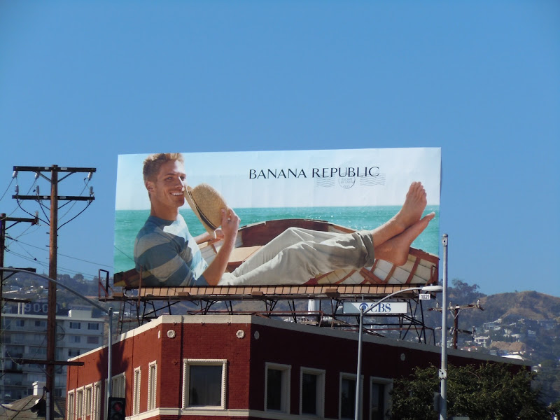 Banana Republic boat billboard