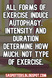 All forms of exercise induce autophagy. Intensity and duration determine how much, not type of exercise.