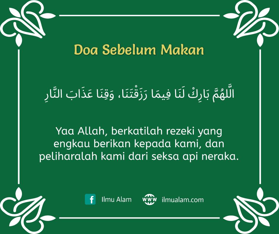 doa sebelum makan dan selepas makan