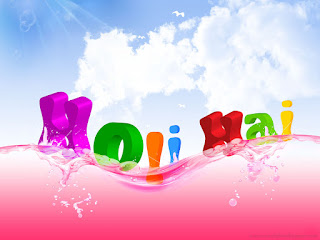 3D Happy holi wallpaprs