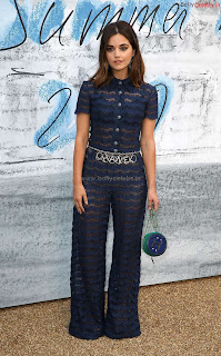 Jenna Coleman in beautiful Blue See Through Jumpsuit ~ bollycelebs.in Exclusive Celebrity Pics 008