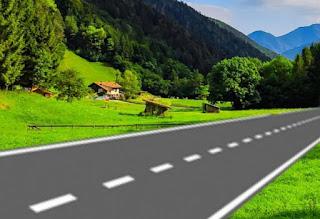 सड़क पर सफेद टूटी पट्टी का मतलब  (Meaning of dot white lines on road )