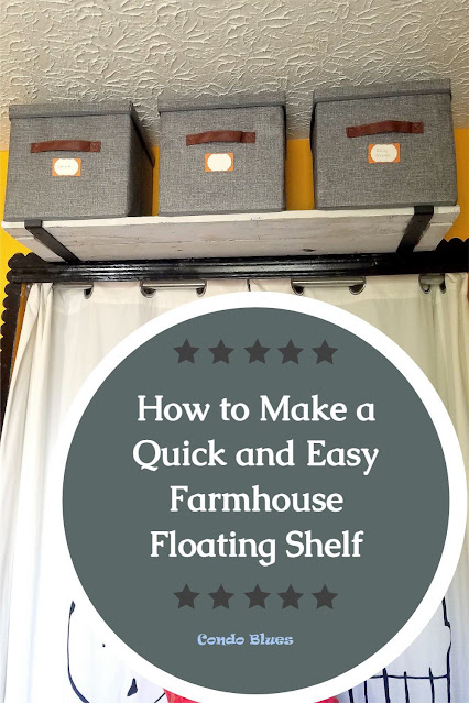 how to make a farmhouse style floating shelf