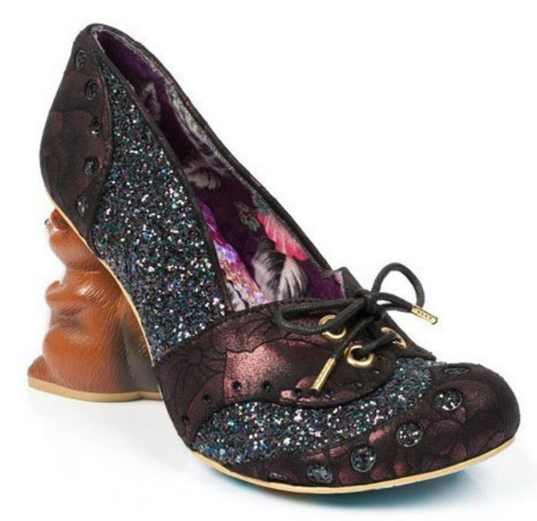 Irregular Choice secret squirrel black