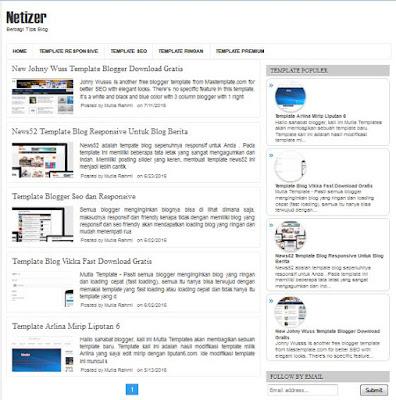 Template Blog Netizer Responsive terbaru