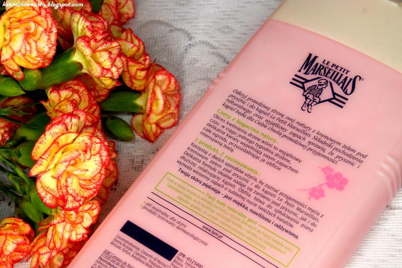 Le Petit Marseillais kremowy żel pod prysznic i do kąpieli Kwiat Wiśni