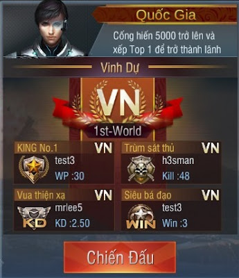 Chế độ chơi Liên Quốc Gia trong truy kích mobile