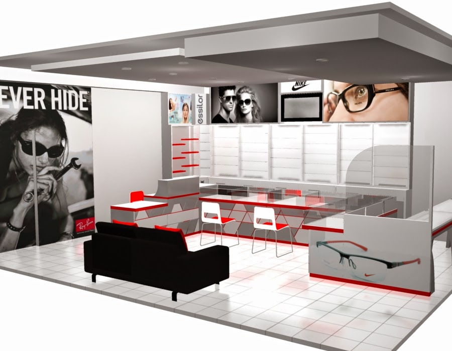 desain 3d Etalase Kacamata dan Interior Untuk Optik - Semarang 06